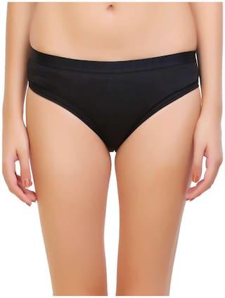 Tace Pack Of 1 Solid Mid Waist Bikini - Black