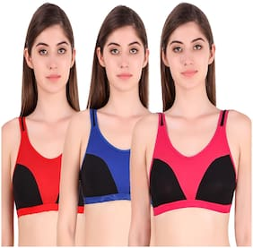 Color Blocked Non Padded Pack of 3