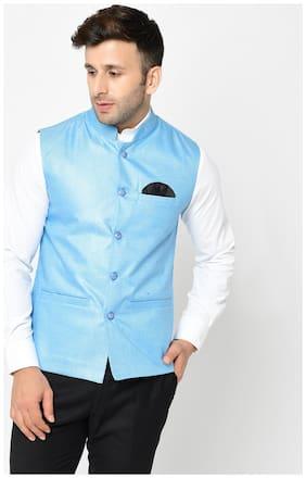 Men Solid Blended Ethnic Jacket