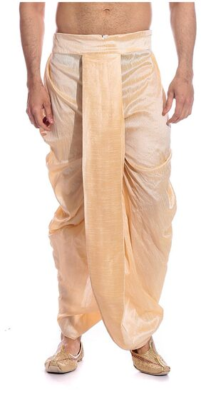 Tag 7 Cotton Solid Dhoti - Beige