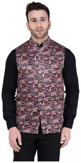 Men Printed Rayon Ethnic Jacket