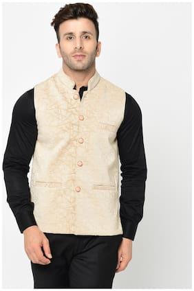 Men Solid Velvet Ethnic Jacket