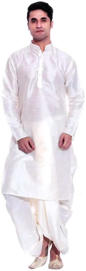 Tag 7 Blended Regular dhoti Dhoti - White