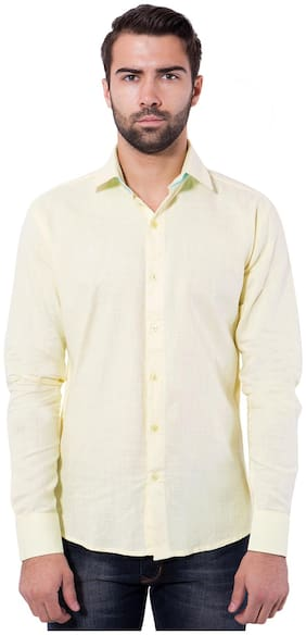 Tag & Trend Men Slim Fit Casual shirt - Yellow