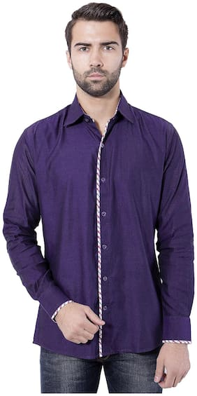 Tag & Trend Men Slim Fit Casual shirt - Purple