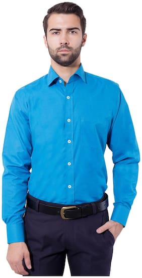 Tag & Trend Deep Sky Blue Slim Fit Formal Shirt