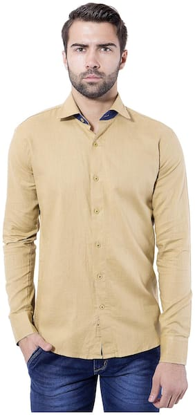 Tag & Trend Men Slim Fit Casual shirt - Beige