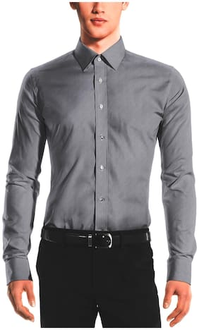 Tag & Trend Men Slim fit Formal Shirt - Grey