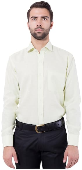 Tag & Trend Honeydew Green Slim Fit Formal Shirt