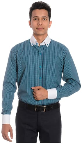 Tag & Trend Pine Green Slim Fit Formal Shirt