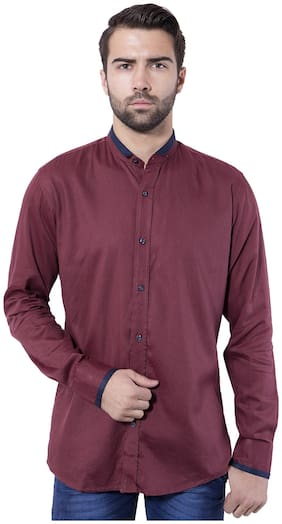 Tag & Trend Men Slim Fit Casual shirt - Brown