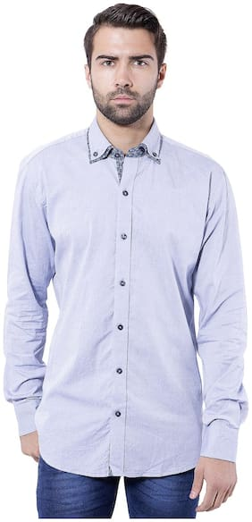 Tag & Trend Men Slim Fit Casual shirt - Blue