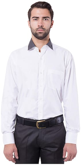 Tag & Trend White Slim Fit Formal Shirt