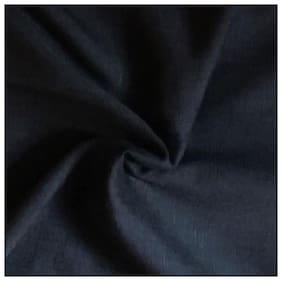 TANMAY COTTON KHADI Men Linen Solid Suiting - Black