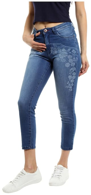 TARAMA Mid Rise Skinny fit Blue color Jeans for women