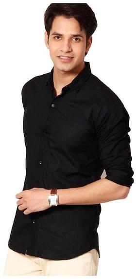 Tarkshyam Trendz Men Slim Fit Casual shirt - Black