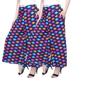TASHI PLAZZO PANTS FOR WOMEN PACK OF 2