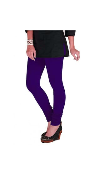 TBZ Magenta amp; Three Leggings Women's Blue Navy Cotton of Lycra Purple amp; XL Pack rWSqXrI