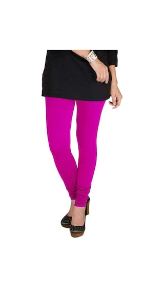 Cotton Pack amp; XL Navy Lycra Three of Magenta Blue Leggings Purple amp; TBZ Women's dwv6gxqFd