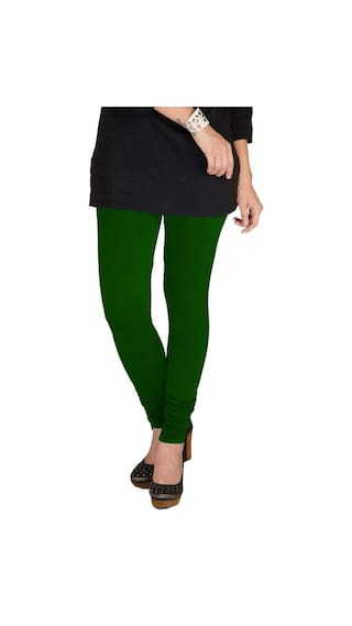 of Pack Red amp; Black Three XL TBZ Women's Leggings Cotton Lycra amp; Green Dark wxqp4fFaC