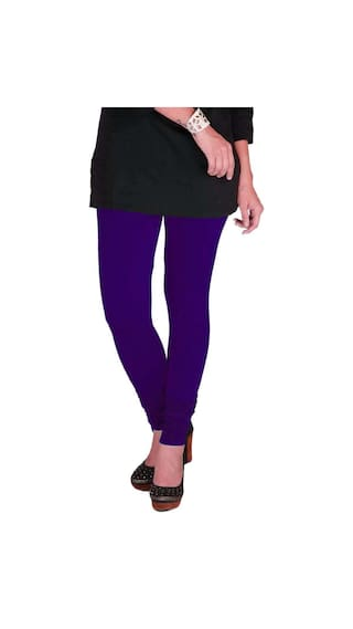 Black amp; XXL Leggings Cotton Pack Purple amp; Dark of Green Three Women's TBZ Lycra wB1qIqT