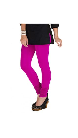amp; XL Three Lycra Blue Magenta Women's amp; of White Pack Navy Cotton TBZ Leggings 1nqOa8f