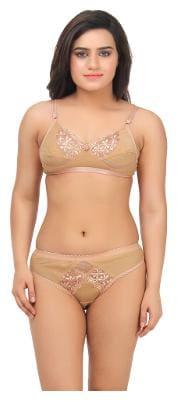 TCG Solid Bikini brief Push-up bra - 1 Lingerie Set