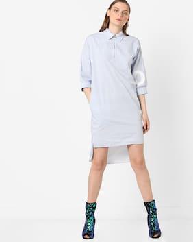 Teamspirit By Reliance Trends Women Blue Dress