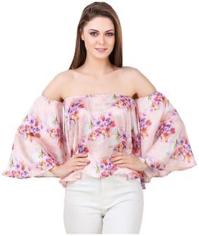 Women Floral Off Shoulder Top