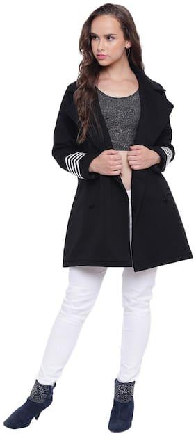 Women Fleece Regular FIt Coat