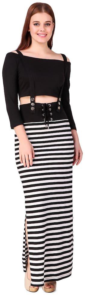 Texco Cotton Striped A-line Dress Multi