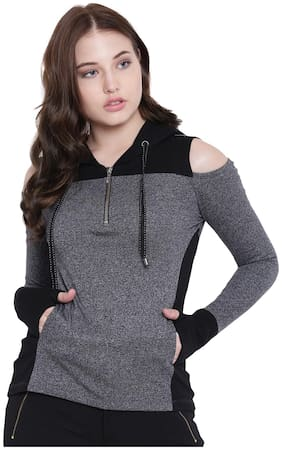 Women Solid Hooded Top ,Pack Of 1