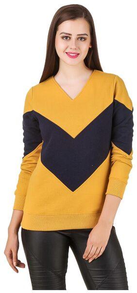 Texco color block musterd winter sweat shirt