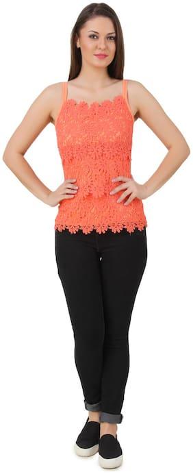 Texco Coral Peach Lace Camisole
