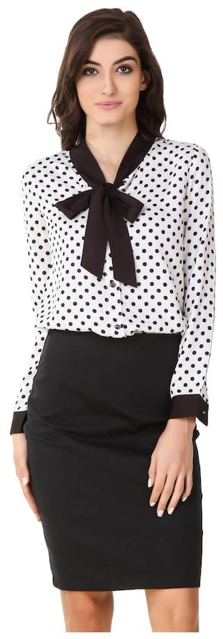 Shirt Polka Texco White Formal Dotts 7IySZqw