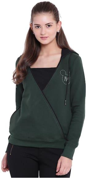 Texco Women Solid Sweatshirt - Green