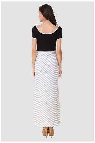 Digonal Fashion Striped Maxi Dress Neck Texco Detailing Hi E4q55wa