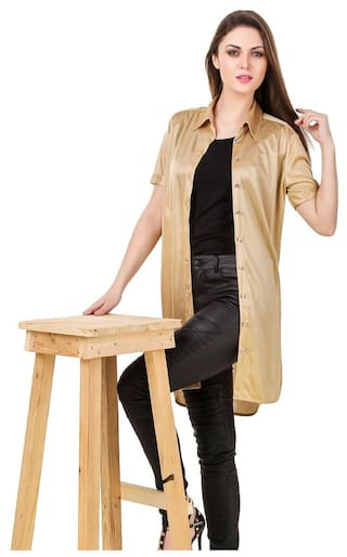 Texco In Shirt Golden Slit Slip Classy High Beige rq1wxr