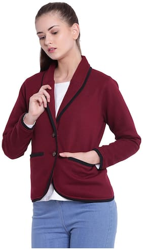 Women Fleece Regular FIt Blazer ,Pack Of 1