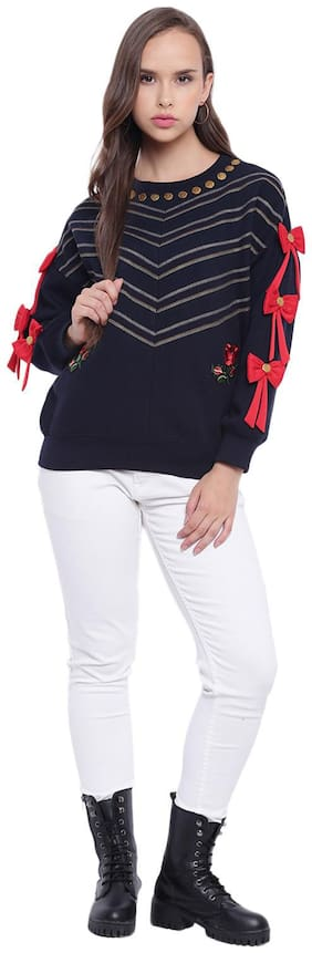 Women Embroidered Sweatshirt