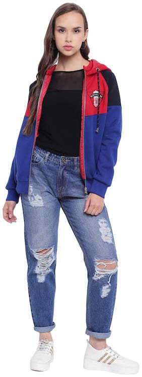 Women Colorblocked Jacket