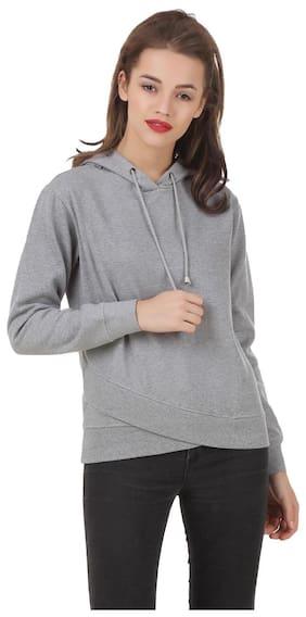 Texco solid Grey winter sweatshirt