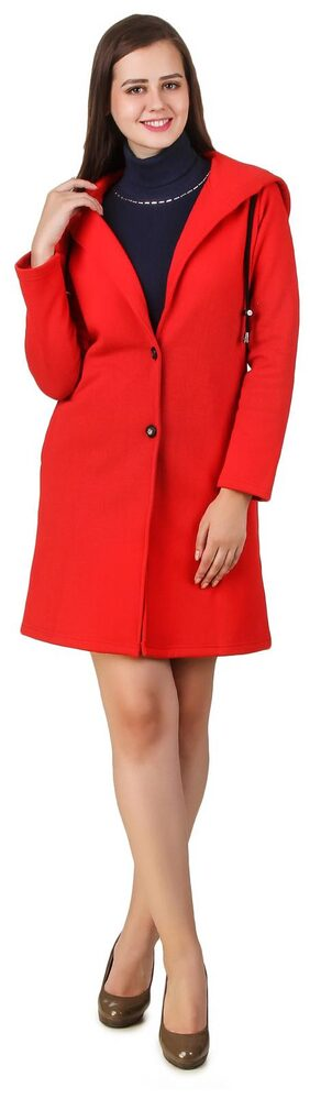 Texco winter long full sleeve red over coat