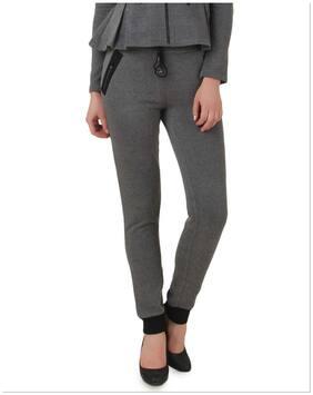 Texco Women Solid Regular pants - Grey