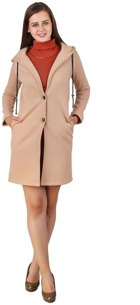 Women Fleece Regular FIt Coat