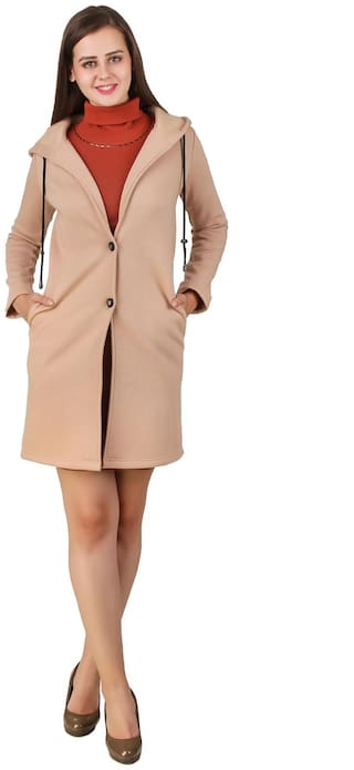 Texco Women Solid Regular FIt Coat - Brown