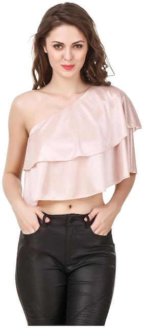 Women Solid Boat Neck Top ,Pack Of 1
