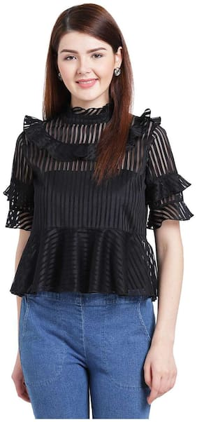 Women Printed High Neck Top