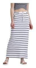 Texco Printed A-line skirt Maxi Skirt - White