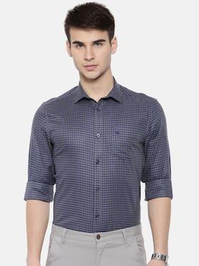 THE BEAR HOUSE Men Slim Fit Formal Shirt - Grey